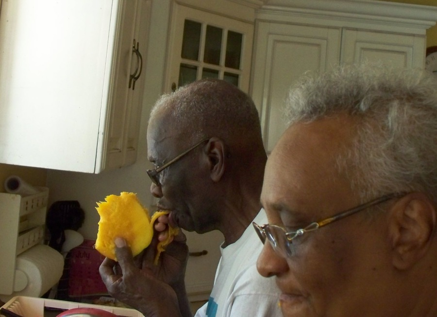 the mangoes are nice Suz, now let us eat our mangoes in peace